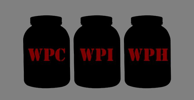 Tipos de Whey Protein Concentrado Isolado Hidrolisado