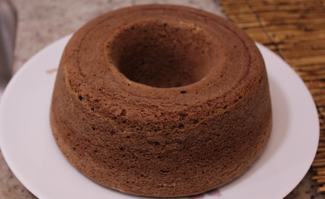 Bolo de chocolate com Whey Protein